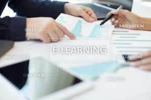 E-Learning. Internet education concept.